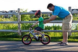 Lernen des Fahrradfahrens
